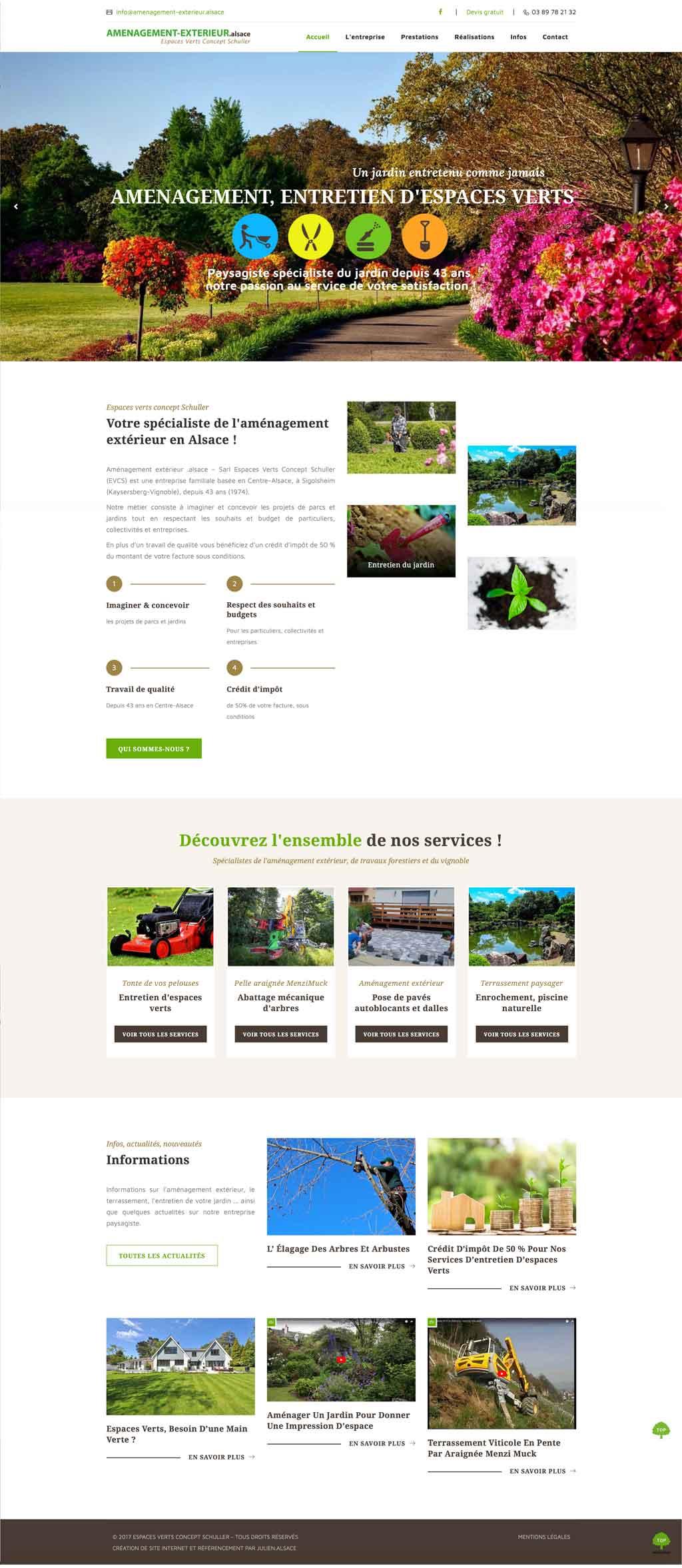 Création de site internet pour paysagiste