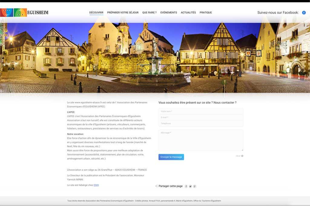 Création de site internet pour association de commerçants