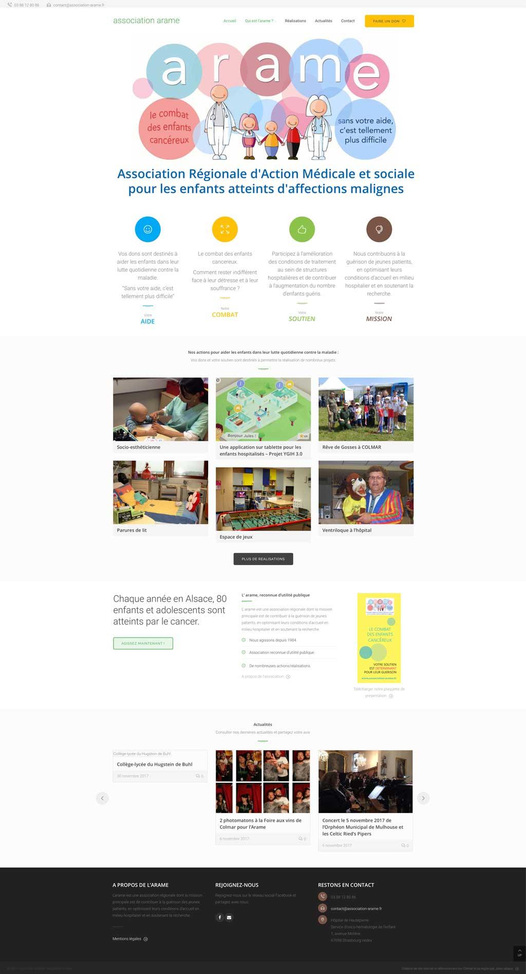 Création de site internet pour association caritative