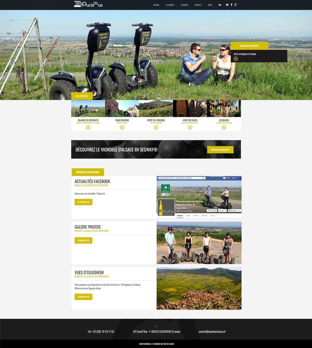 Création de site internet pour oenotourisme