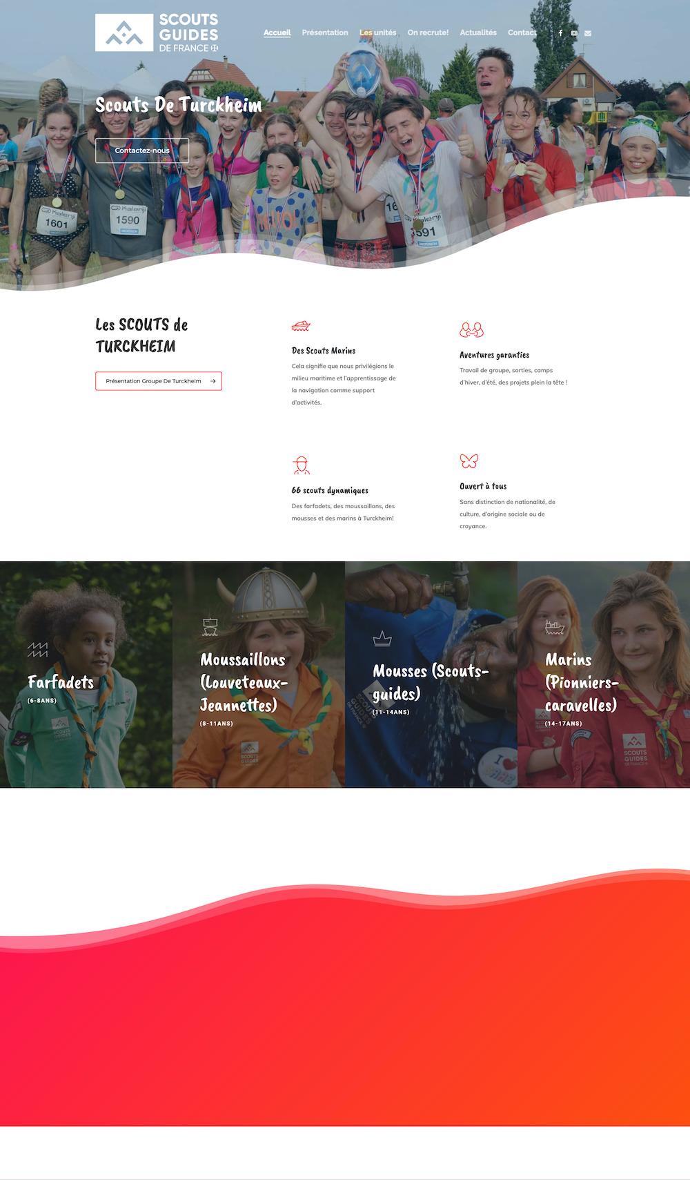 Site internet associatif des Scouts de Turckheim
